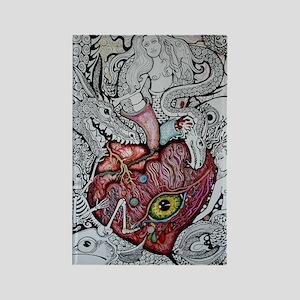 Meye Heart Imagines Rectangle Magnet
