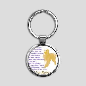 Golden Retriever To Remember Round Keychain