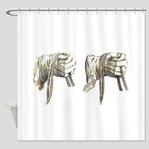 dressage hands large Shower Curtain