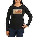 Flat Kentucky Women's Long Sleeve Dark T-Shirt