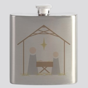 Away in a Manger Flask