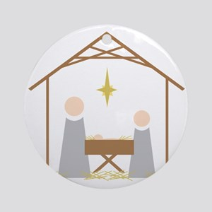 Away in a Manger Round Ornament
