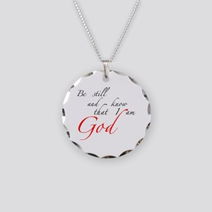 Be still Necklace Circle Charm