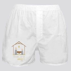 Let Us Adore Him Boxer Shorts