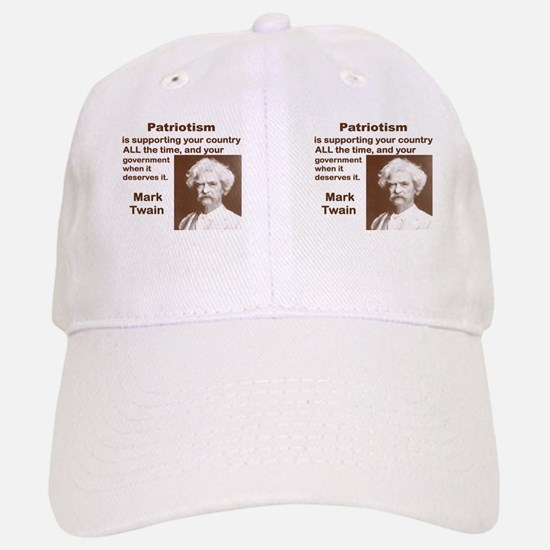 PATRIOTISM IS SUPPORTING YOUR COUNTRY ALL THE  Baseball Baseball Cap