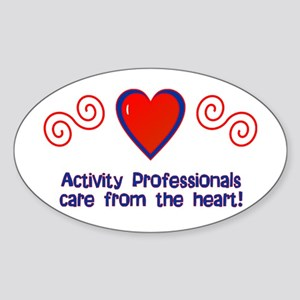 Activity Professionals Oval Sticker