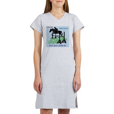 Fun Hunter/Jumper Equestrian Ho Women's Nightshirt