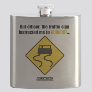Burnout Traffic Sign Flask