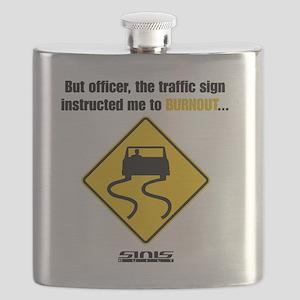 Burnout Traffic Sign Flask