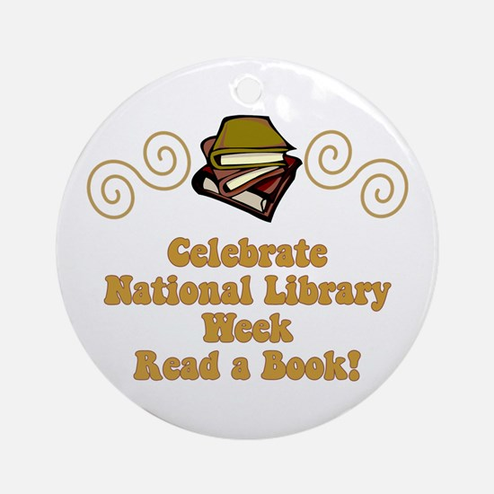 National Library Week Ornament (Round)