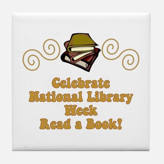 National Library Week Tile Coaster