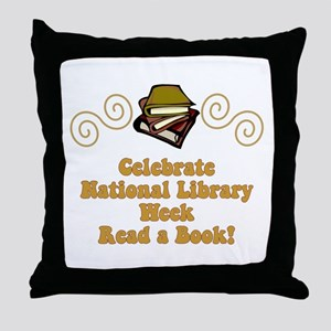 National Library Week Throw Pillow