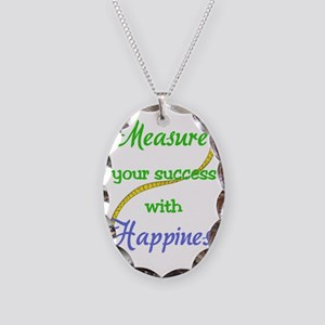 Happiness Necklace Oval Charm