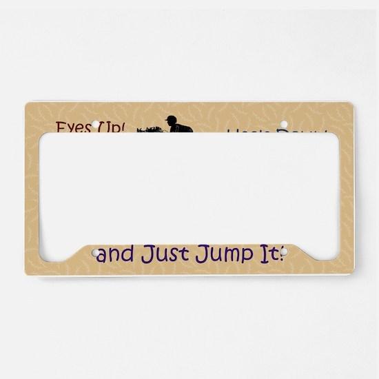 Fun Hunter/Jumper Equestrian  License Plate Holder