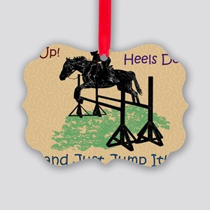 Fun Hunter/Jumper Equestrian Hors Picture Ornament