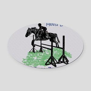 Fun Hunter/Jumper Equestrian Horse Oval Car Magnet