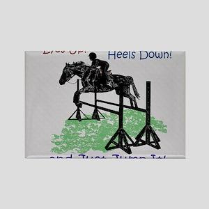 Fun Hunter/Jumper Equestrian Hors Rectangle Magnet