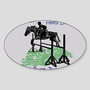 Fun Hunter/Jumper Equestrian Horse Sticker (Oval)