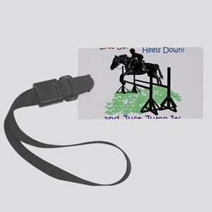Fun Hunter/Jumper Equestrian Hor Large Luggage Tag