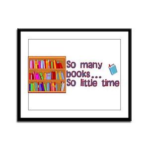 So Many Books Framed Panel Print