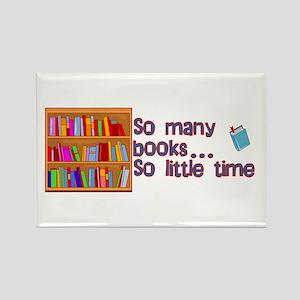 So Many Books Rectangle Magnet
