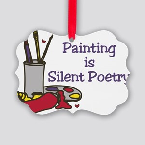 Silent Poetry Picture Ornament