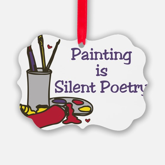 Silent Poetry Ornament
