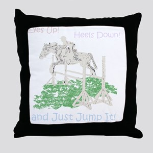 Fun Hunter/Jumper Equestrian Horse Throw Pillow