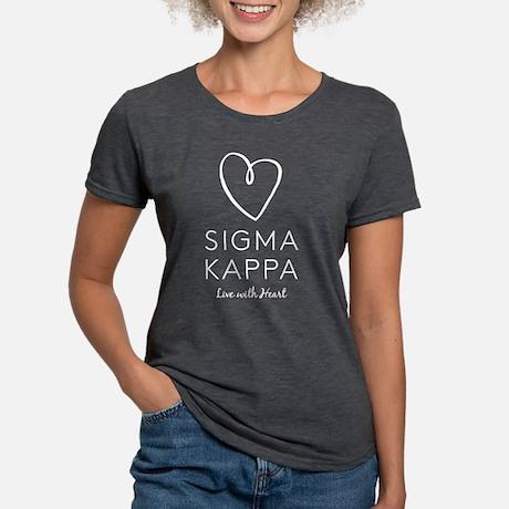 Sigma Kappa Heart Tri-Blend T-shirt