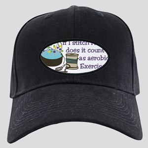 If I Stitch Fast... Black Cap