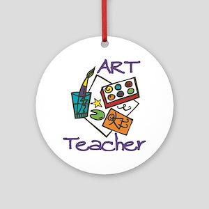 Art Teacher Round Ornament
