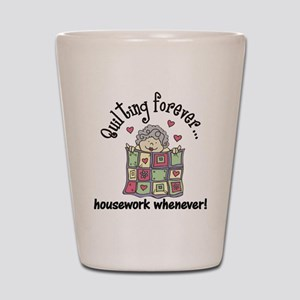 Quilting Forever Shot Glass