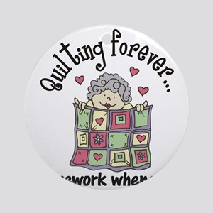 Quilting Forever Round Ornament