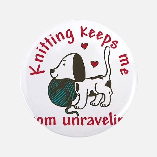 "Knitting 3.5"" Button"