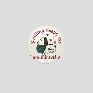 Knitting Mini Button