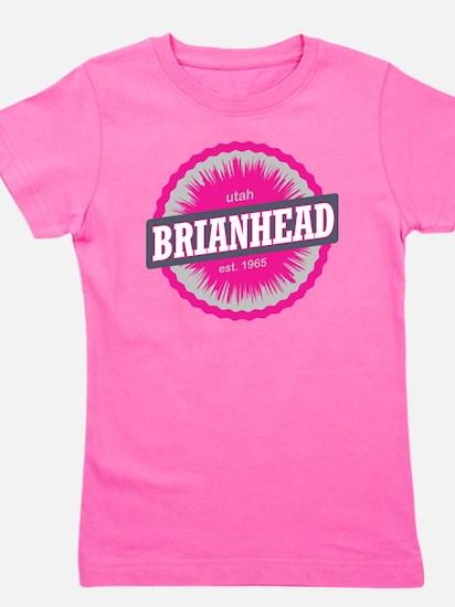 Brian Head Ski Resort Utah Pink Girl's Tee