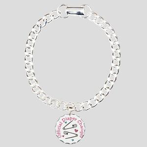 Official Diaper Changer Charm Bracelet, One Charm