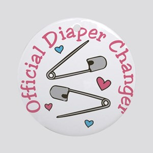 Official Diaper Changer Round Ornament