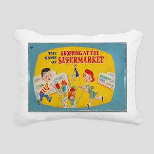 supermarket game Rectangular Canvas Pillow
