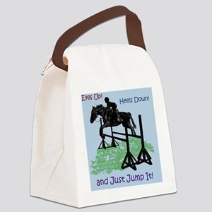 Fun Hunter/Jumper Equestrian Hors Canvas Lunch Bag