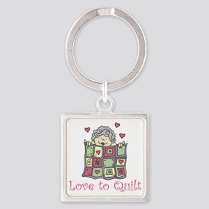 Love to Quilt Square Keychain