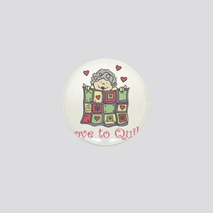 Love to Quilt Mini Button