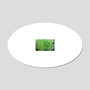 Tree python/chondro python 20x12 Oval Wall Decal