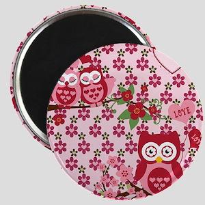 Valentines Owls Magnet
