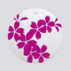 Falling Cherry Blossoms Ornament (Round)