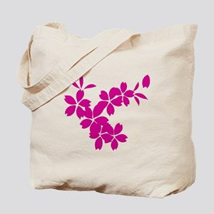 Falling Cherry Blossoms Tote Bag