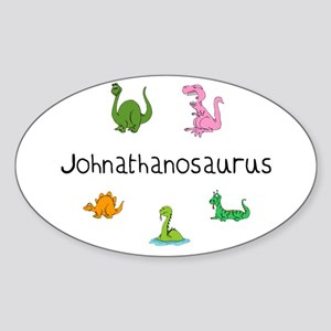 Johnathanosaurus Oval Sticker