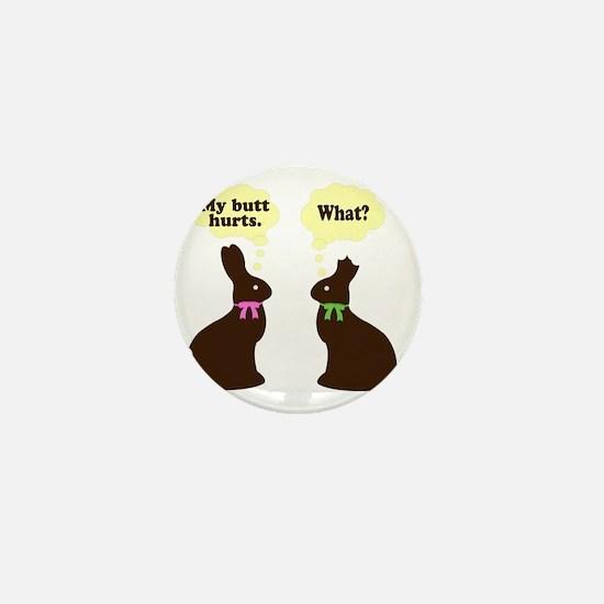 My butt hurst Easter bunnies Mini Button