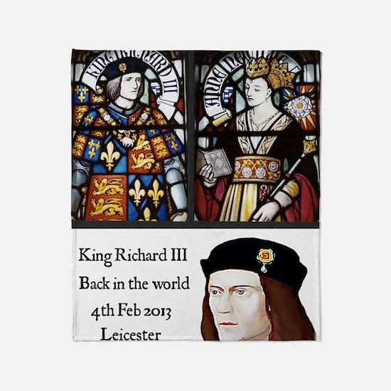 King Richard III Throw Blanket