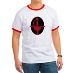 Red and Black Rapier Ringer T